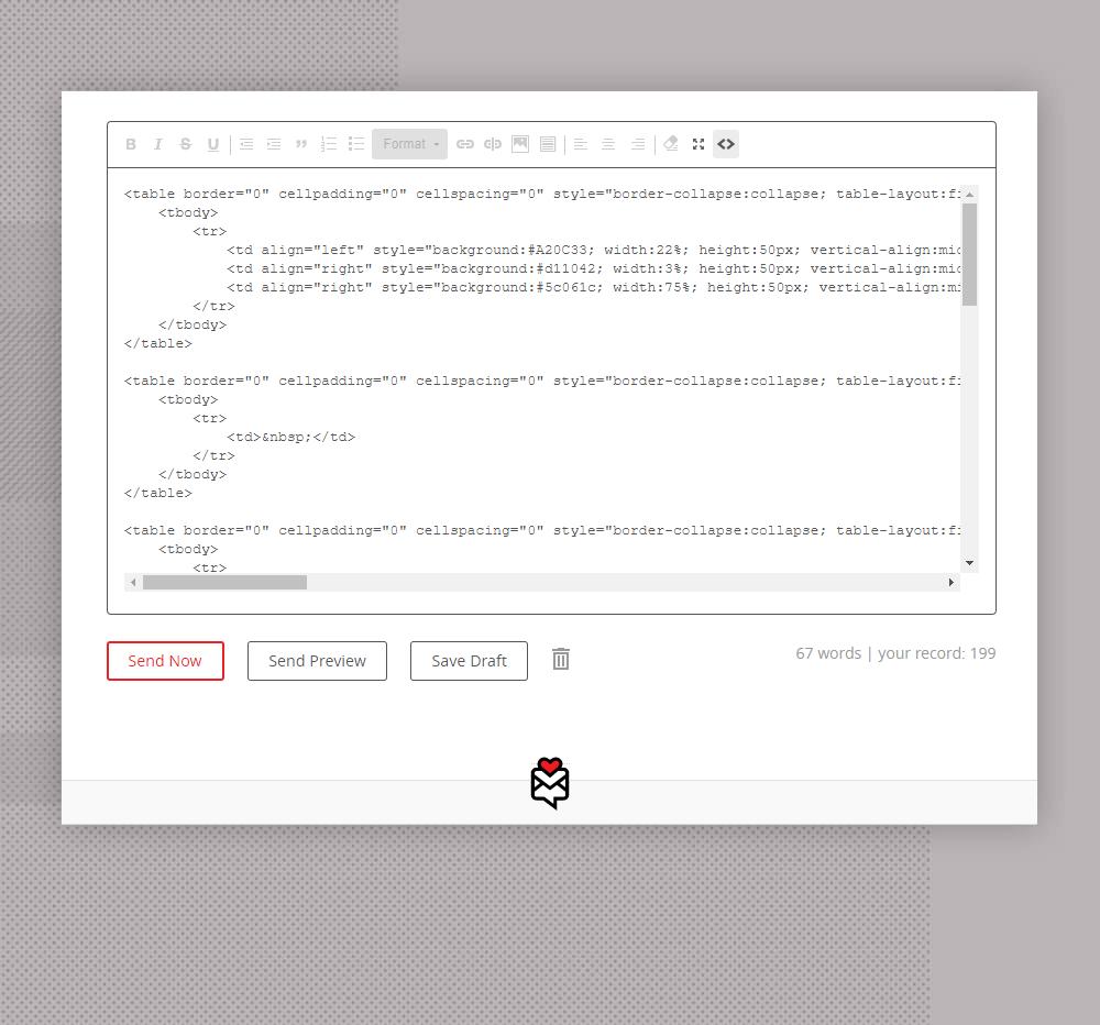 Fwd: newsletter code