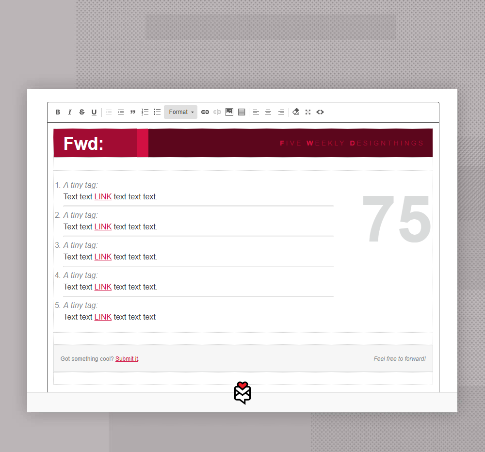 Fwd: newsletter template