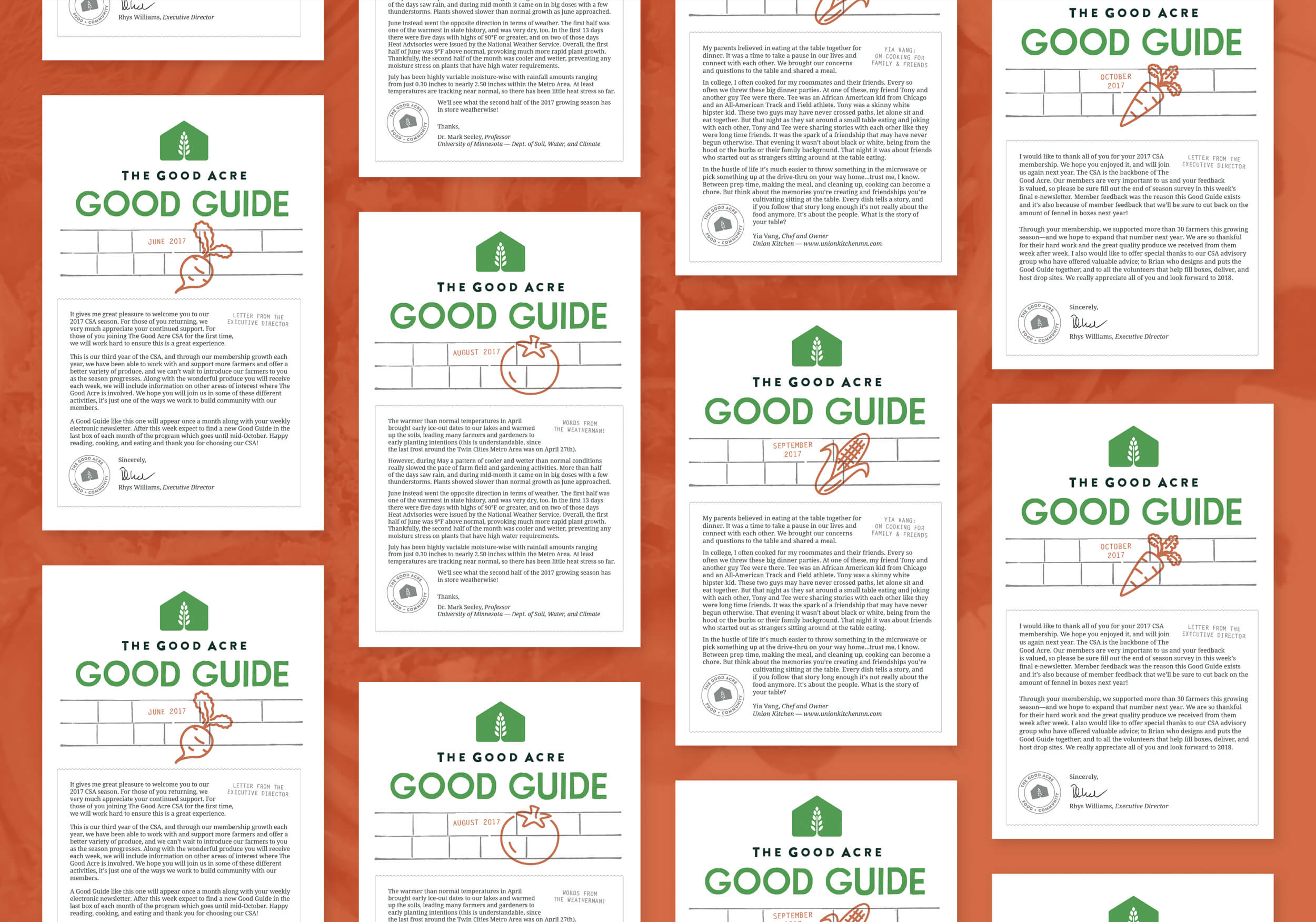 A collection of Good Guide covers